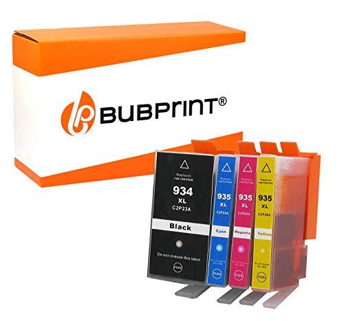 Bubprint 4 Druckerpatronen kompatibel für HP 934XL 935XL für OfficeJet 6800 Series 6820 6822 6825 Pro 6200 Series 6230 6235 6239 6830 6835 BK C M Y