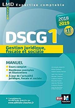 Descargar PDF DSCG 1 Gestion juridique fiscale et sociale manuel - Millésime 2018-2019  - 11e édition (Expertise comptable)
