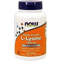 Now Foods | Double Strength L-Lysin | 1000 mg | 100 Tabletten | Vegan | Vegetarisch | hochdosiert | ohne Gentechnik | Glutenfrei | Sojafrei