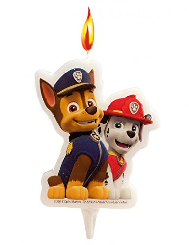 candelina-per-torta-di-compleanno-paw-patrol-chase-marshall-cagnolini-cake