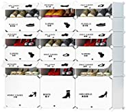 Cubic Shoe Organizer, White, H 122 cm x W 140 cm x D 37 cm