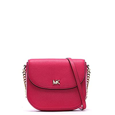 MICHAEL by Michael Kors Mott Ultra Pink Leather Dome Crossbody