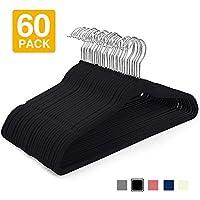 HOUSE DAY Velvet Hangers (60 Pcs) Heavy Duty Hangers Non Slip Velvet Suit Hangers