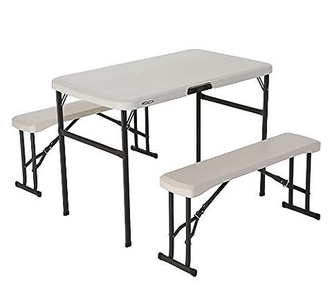 Lifetime 80352 42-Inch Recreation Folding Table Set - Almond