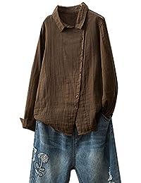 0d5a9f3abe44 Sweats Femme 2018 EUZeo Été Automne Hiver Femmes Décontractée Mode Couleur  Unie Coton et Lin Bouton