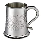 Wentworth, boccale da birra in peltro con nodo celtico, in rilievo, idea regalo per Natale