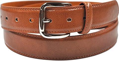 Hommes 32mm pantalon classique ceinture - brun clair (taille 92cm - 102cm)