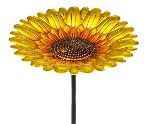 Fountasia Vogeltränke mit Sonnenblumen-Design, Metall