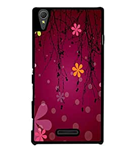 printtech Flower Cool Pattern Back Case Cover for Sony Xperia T3