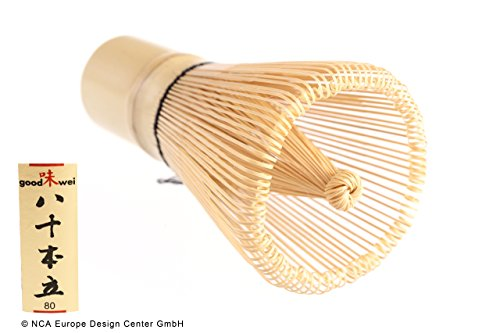 Goodwei Chasen - Japanischer Matchabesen aus Bambus mit 80 Borsten (1)