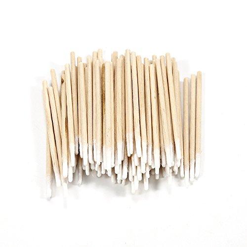 Mini-Wattestäbchen aus Holz, mit zugespitztem Wattekopf, für medizinische Heilung, Gesundheit, Make-up, Nagelkunst, Kosmetik, 100 Stück