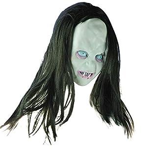 TAOtTAO Halloween Horror Long Hair Witch Full Face Latex Mask Hot