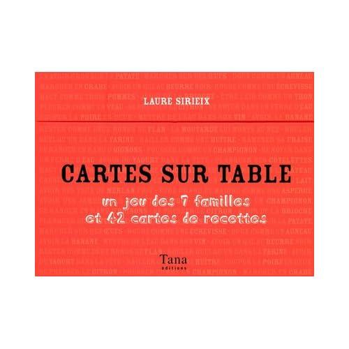 CARTES SUR TABLE JEU 7 FAMILLE