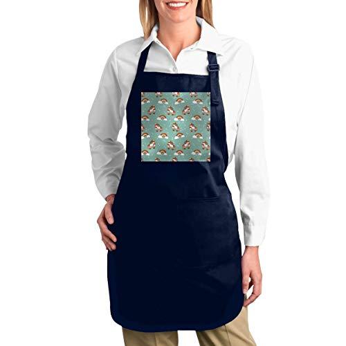 MAMAARE Rollschuh Retro Regenbogen Einstellbare Latzschürze Mit 2 Taschen BBQ Kochen Küche Restaurant Bar Chef Schürzen Für Frauen Männer