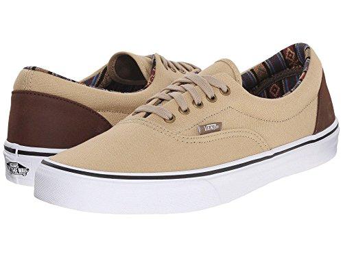 Vans U Era Unisex-Erwachsene Sneakers (Indo Pacific)Khaki/TrWht