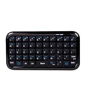 Clavier Mini Bluetooth sans fil pour smartphone LG Joy, Leon, Magna, Spirit, BQ Aquaris M4.5 M5 et M5.5 - Portatif et Pratique - Par DURAGADGET