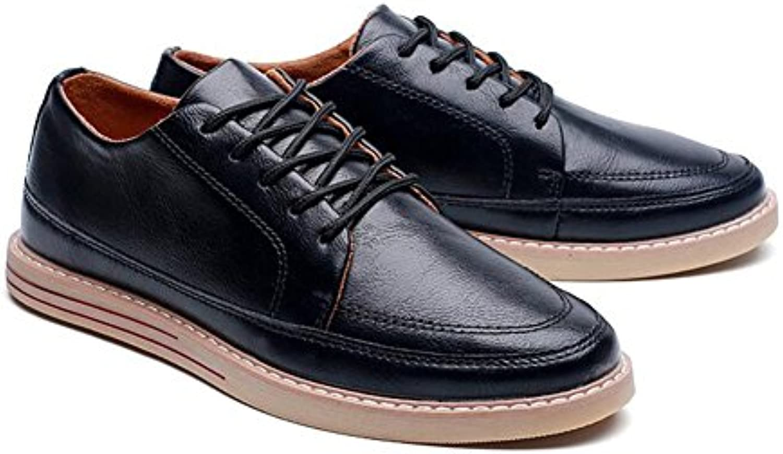 XUEQIN Trend Herren Schuhe Jugend Freizeit Leder Schuhe ( Farbe : 1   größe : EU42/UK8.5/CN43 )