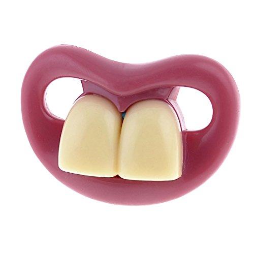 Preisvergleich Produktbild Weihnachtsgeschenk Zwei Vordere Zähne Schnuller Lustig für Baby Säugling