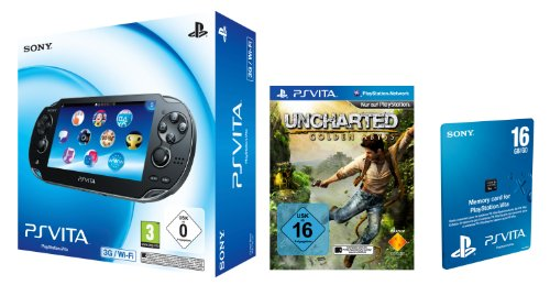 Sony PlayStation Vita (3G+WiFi) inkl. Uncharted: Golden Abyss + 16 GB Speicherkarte