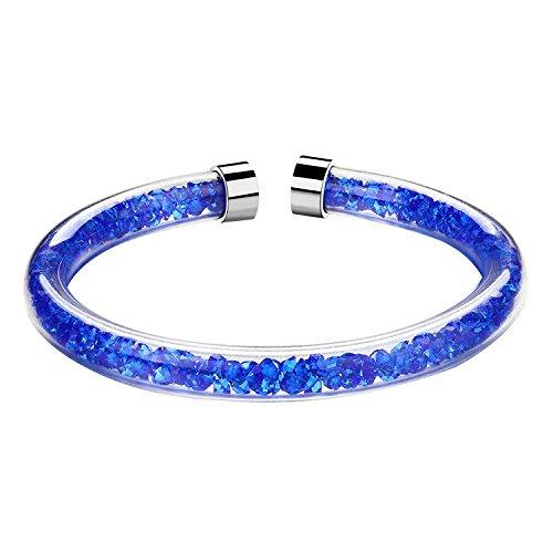 GAOQQ Lady Hand Kette Scintillation Stardust Einfache Hand Ring Tschechische Wasserbohrer Element Armband,Blue