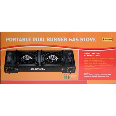Portable Camping Outdoor Dual Double Burner Gas Stove