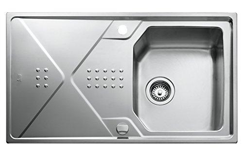 Teka lavandino da incasso in acciaio inox–lavello da cucina S 1vasca e grande sgocciolatoio luci