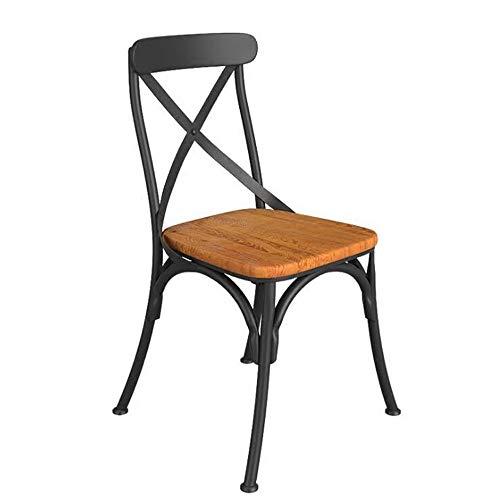 BOOSC Vintage Industrial Style Barhocker Schwarz Barhocker Mit Rücksitz Aus Holz 92 cm Hohe Metall Industrial Bar Stühle Hocker Retro Cafe Bar Stuhl for Restaurant -
