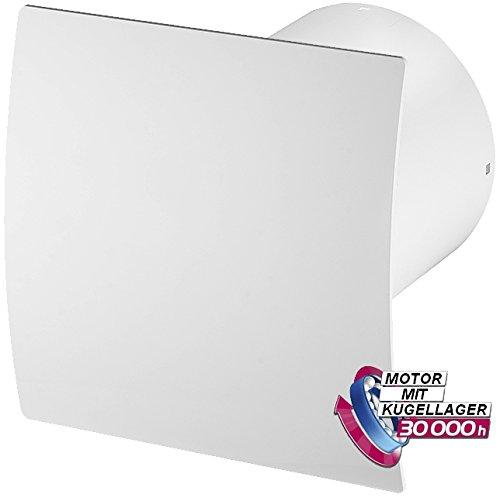 Bad-Lüfter Wand-Ventilator Ø 100 Feuchtesensor / Timer Escudo Silent System+ (PEB) (Badezimmer Lüfter Leise)