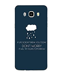 Make My Print Slogan Printed Multicolor Soft Back Cover For SAMSUNG Galaxy J5 - 6 (New 2016 Edition)
