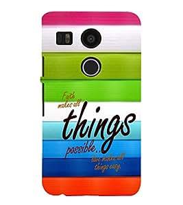 EPICCASE Faith and love Mobile Back Case Cover For LG Nexus 5x (Designer Case)