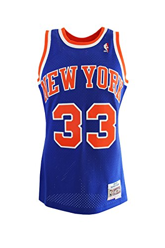 separation shoes 76f81 e2aa5 Mitchell & Ness Patrick Ewing #33 New York Knicks 1991-92 Swingman NBA  Jersey Blue, L