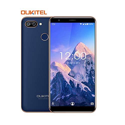 """OUKITEL C11 Pro 4G Smartphone 18:9/5.5"""" Android 8.1 Dual Sim Teléfono Movil Libre, Quad-Core 3GB + 16GB, Doble Cámara 8.0MP+2.0MP- Azul"""