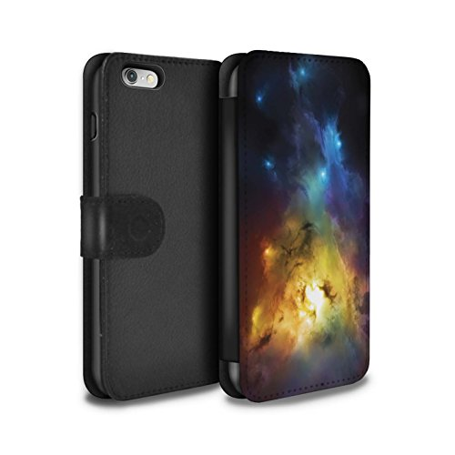 Offiziell Chris Cold PU-Leder Hülle/Case/Tasche/Cover für Apple iPhone 6S / Schmelzen Sonne Muster / Fremden Welt Kosmos Kollektion Arcularius Nebel