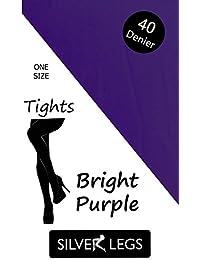40 Denier Opaque Tights (Bright Purple)