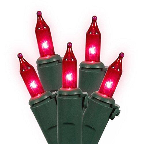 Vickerman 100Stück pink Mini Eiszapfen Weihnachten Lichter-Grün Draht - Mini-eiszapfen-lichter