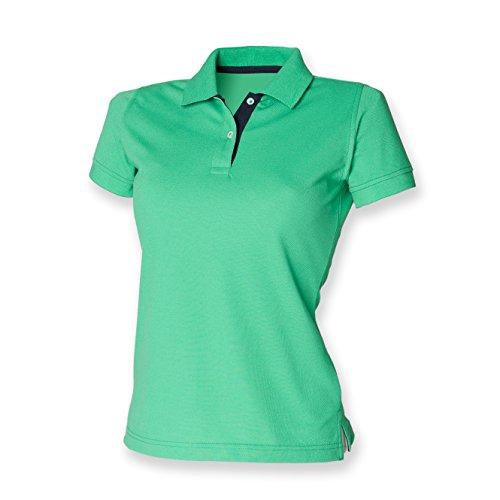 Henbury - Polo -  Femme Multicolore - Bright Green/Navy