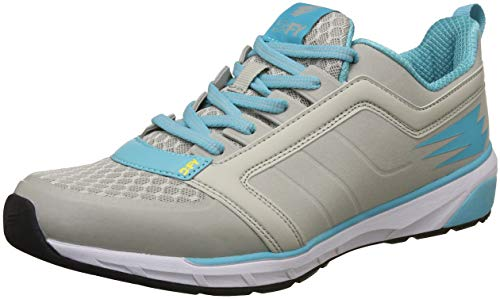 DFY Women's Muscle Lt Grey/Blue Running Shoes-4.5 UK/India (38 EU)(DWF18G500116-38)