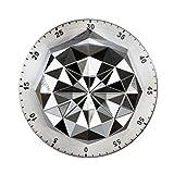 UPKOCH - Timer meccanico da cucina, 55 minuti, in acciaio INOX, magnetico, conto alla rovescia