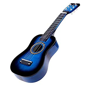 """TOOGOO(R) 23"""" Guitar Mini Guitar Basswood Kid's Musical Toy Acoustic Stringed Instrument with Plectrum 1st String Blue"""