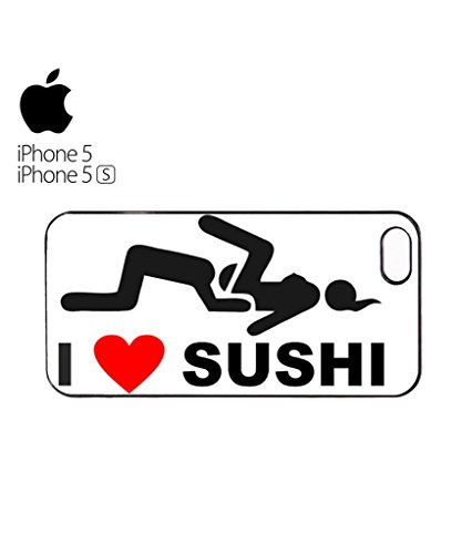 I Love Sushi Joke Swag Cool Funny Hipster Swag Mobile Phone Case Back Cover Hülle Weiß Schwarz for iPhone 5&5s Black Weiß