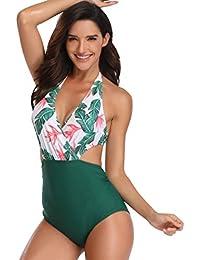 e756f4b55e2b Costumi da Bagno Interi Snellenti Donna Costume Intero Schiena Scoperta  Bikini Fascia Spiaggia Pois Costumi Monokini da Mare Un Pezzo…