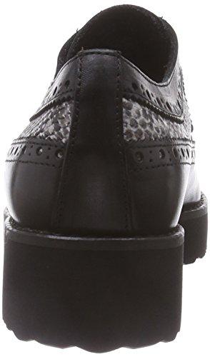 Marc Shoes Romy Damen Brogue Schnürhalbschuhe Schwarz (black-combi 101)