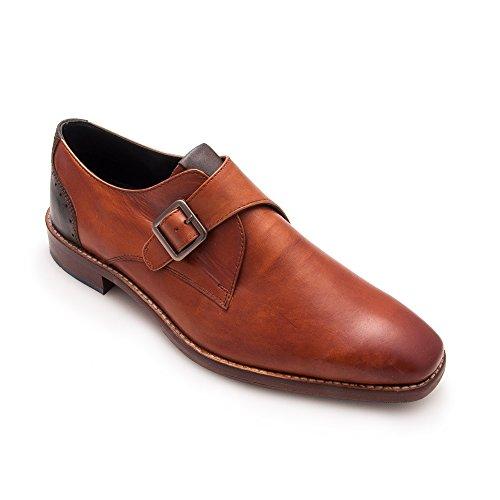 Zerimar Chaussure en Cuir Pour Homme Élégante Chaussure Pour Homme cogñac
