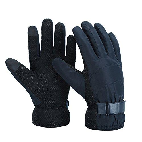 Leefrei Winter Touchscreen Handschuhe wasserdichter Skihandschuhe Fahrradhandschuhe Winddichte Outdoor Sport Handschuhe für Damen und Herren & Mädchen Jungen Kinder Jugendliche(Blau)