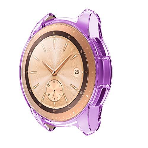 Lazzgirl Ultradünne weiche TPU-Schutzhülle aus Silikon für Samsung Galaxy Watch 42mm(Lila, One Size) -