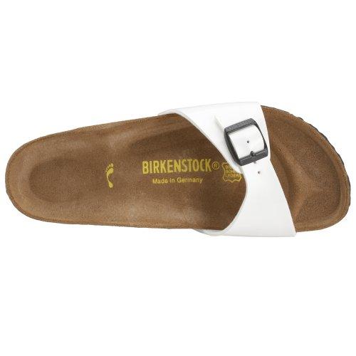 Birkenstock Madrid, Mules Blanc (Blanc laque)