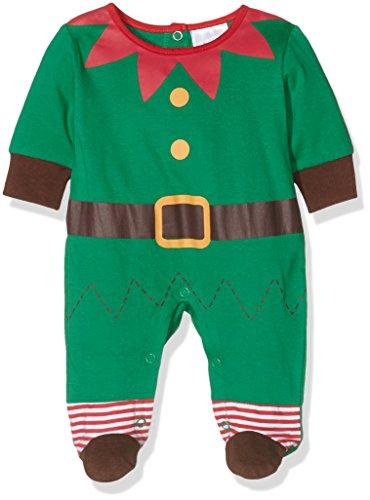 Jungen Twin Kostüm - Twins Unisex Baby Strampler Weihnachtself, Mehrfarbig (Mehrfarbig 3200), 62
