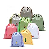 8 PCS Chaussures pour filles Sacs à cordons pour voyage, voyage Cartoon Sacs essentiels Sacs bagages Organisateurs Bag Sacs cosmétiques Mallette blanchisserie Toiletry Pouch (Style: Draw String)