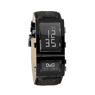 D&G Dolce&Gabbana DW0360 – Reloj Digital de Caballero de Cuarzo con Correa de Piel Negra