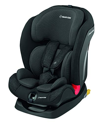 Maxi-Cosi Titan Kindersitz, 9-36 kg mit Isofix (Gruppe 1/2/3), mitwachsender Kinderautositz 123 mit Schlafposition, nomad black